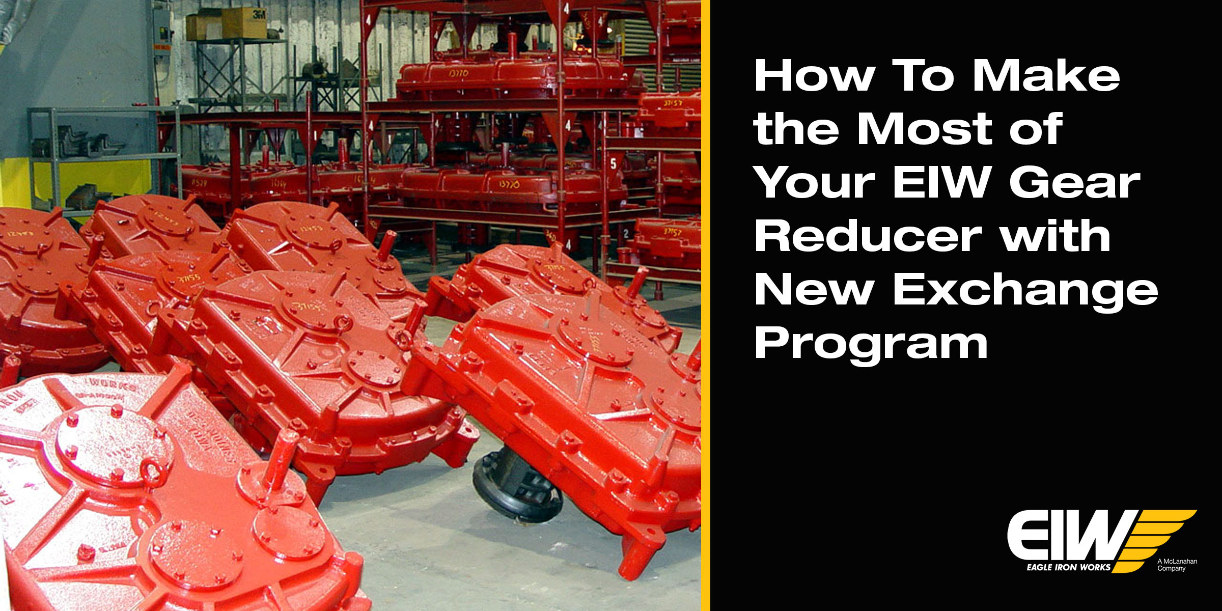 Gear reducers at EIW facility with title text